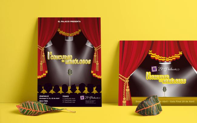 Diseño gráfico | Cartel de eventos de Monólogos
