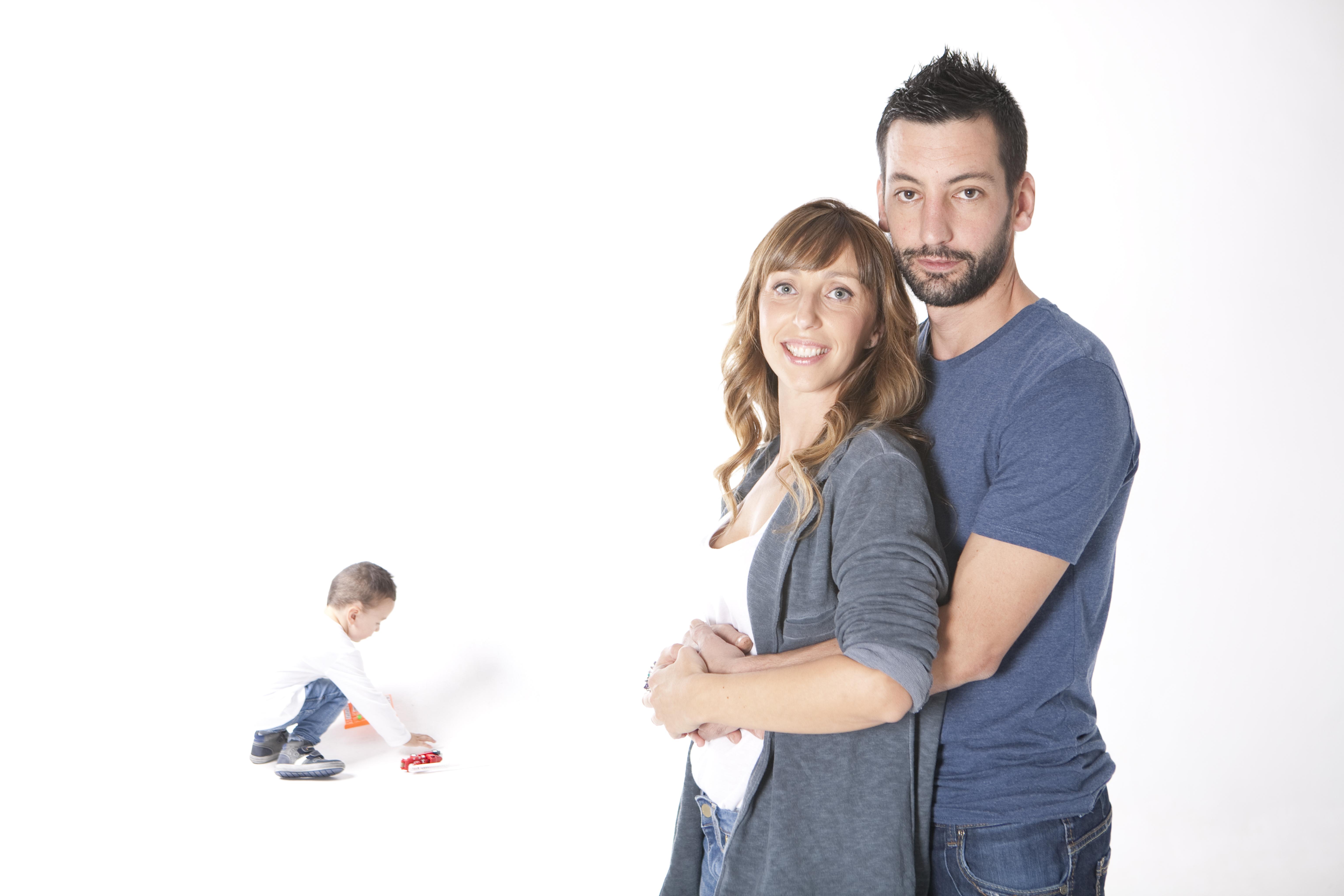 Fotografía de estudio | familia y niño